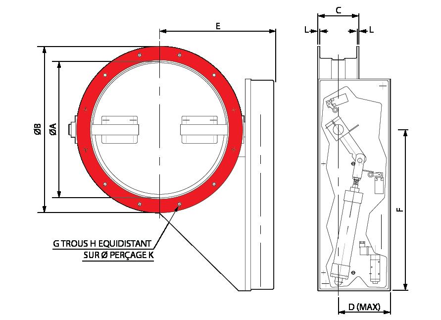 Vanne Papillon Diagram