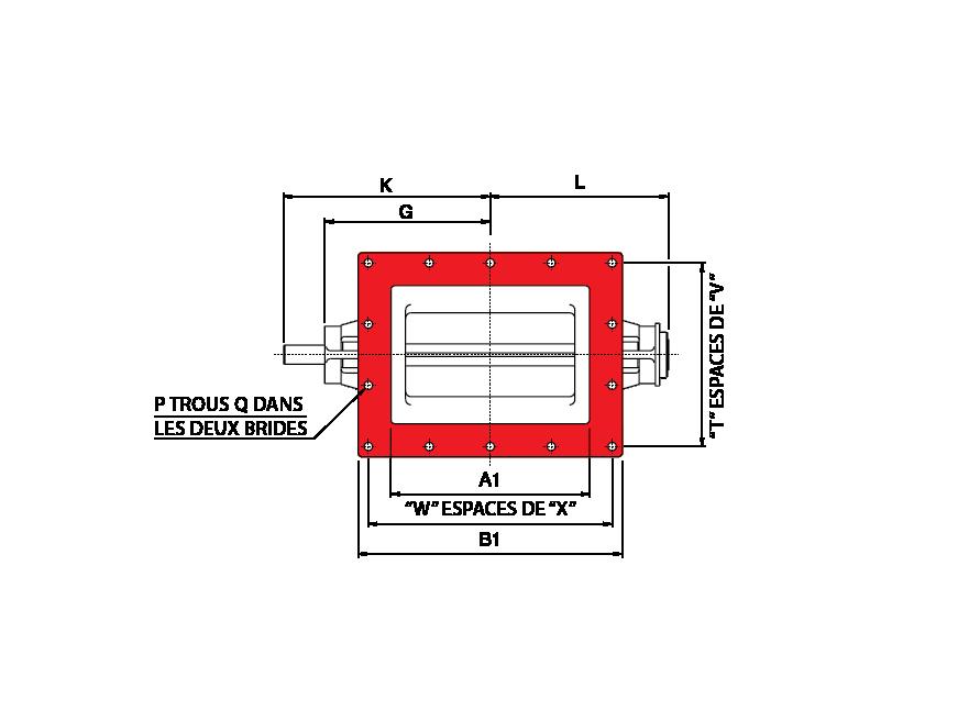 Entree rectangulaire écluses rotatives spéciales