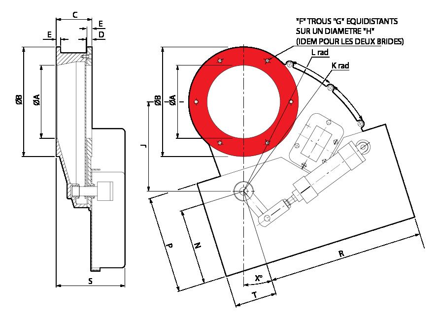 vannes guillotines rotatives Rotoslide Pneumatique
