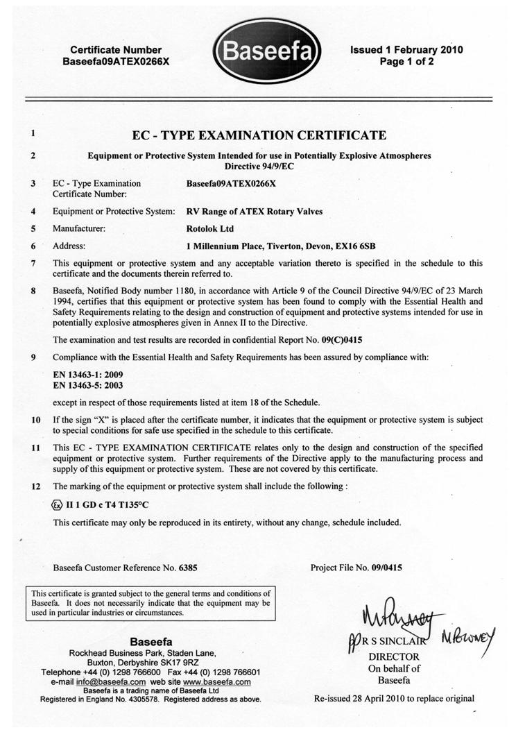 EC Type Examination baseefa11